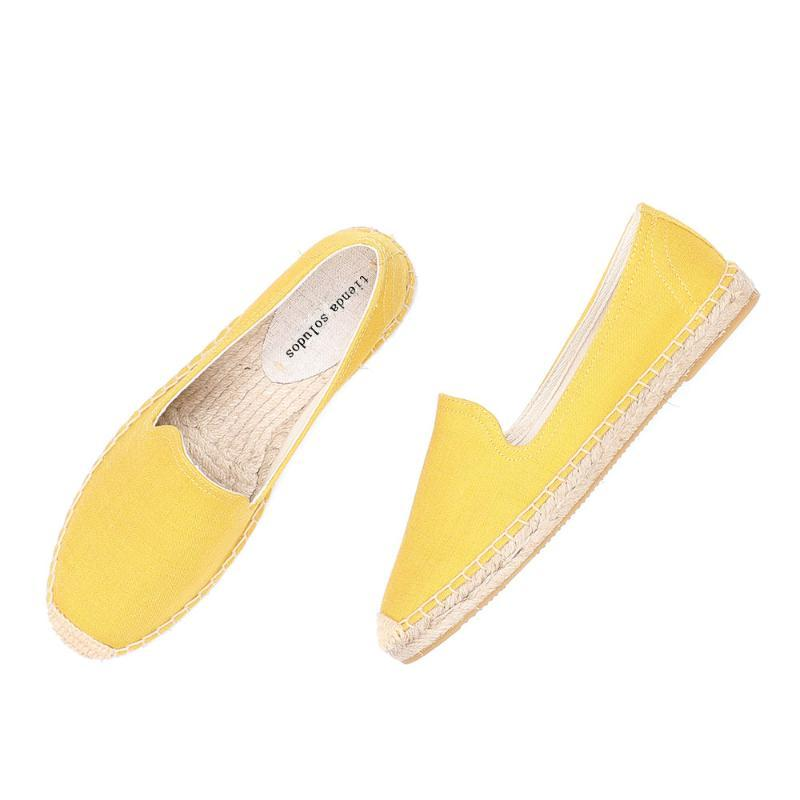 2020 Direct Selling Real Flat Plate-forme Slip en caoutchouc sur Casual solide Zapatillas Mujer Sapatos Femmes Espadrilles Chaussures plates