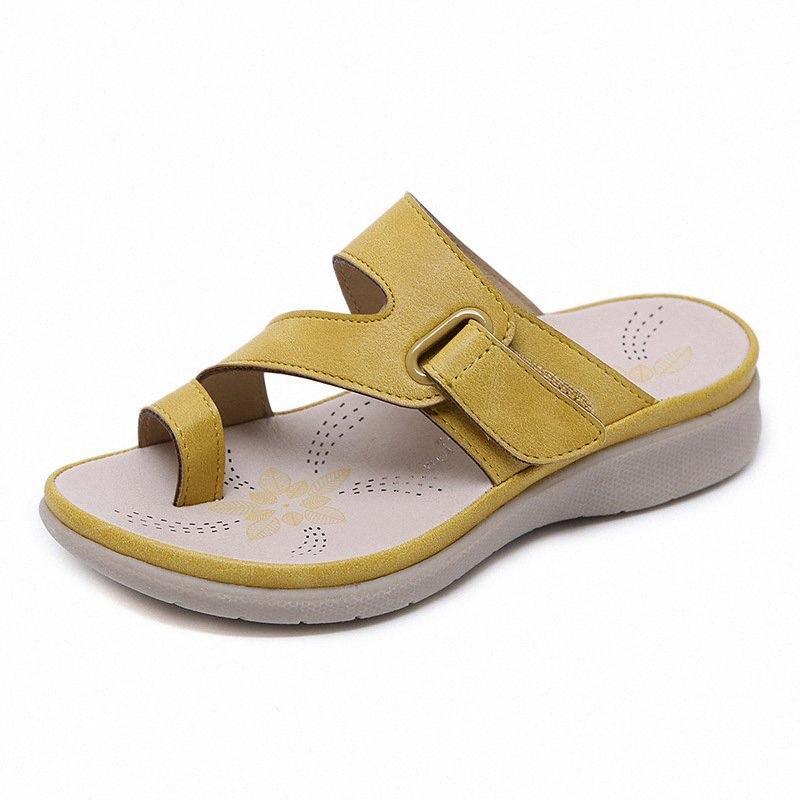 Mädchen-Kind-Leder Slipper Neue Sandalen Kinder-Sommer-Mädchen Strand-Schuh Kinder Sandalen Beige, Rot YellowPink Schuh-Mädchen-IlxZ #