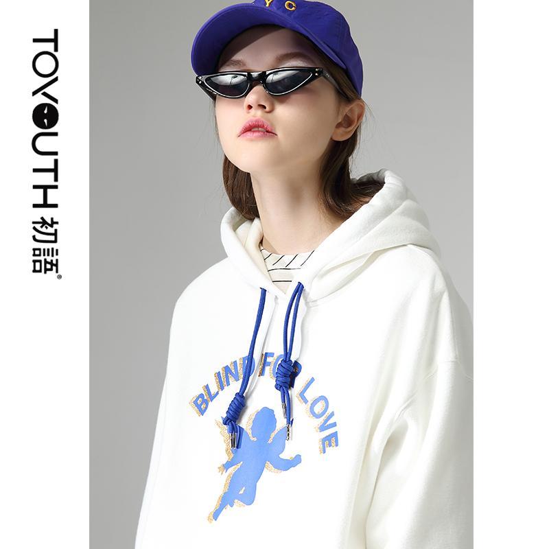 Toyouth 2020 Fashion Fleece Damen Pullover und Sweatshirts Brief gedruckt Langarm-T-Shirt