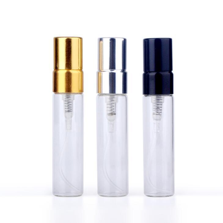 2017 New 5 ml Mini portátil de vidro frascos de perfume de pulverização atomizador recarregáveis Esvazie recipientes cosméticos para o curso LX2368
