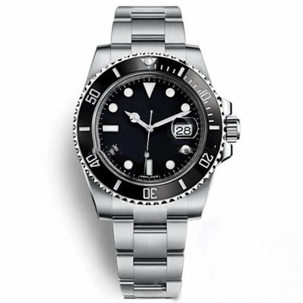 كلاسيك للرجال watchAutomatic الأسود الخزف الحافة الطلب 116610 الفولاذ المقاوم للصدأ كرونو الساعات رجل ساعة اليد الرياضة هارب ساعة اليد