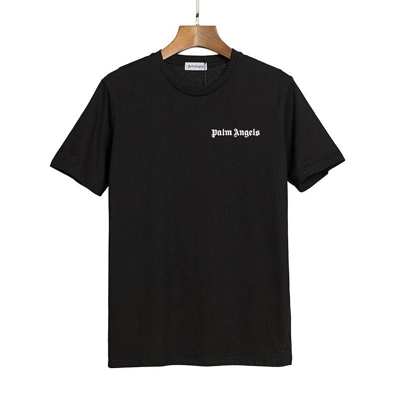 2020ANGELS красота прилив PALM печать АНГЕЛА PA потерять случайный спорт шеи с коротким рукавом футболки мужчин и женщинами 080404-03
