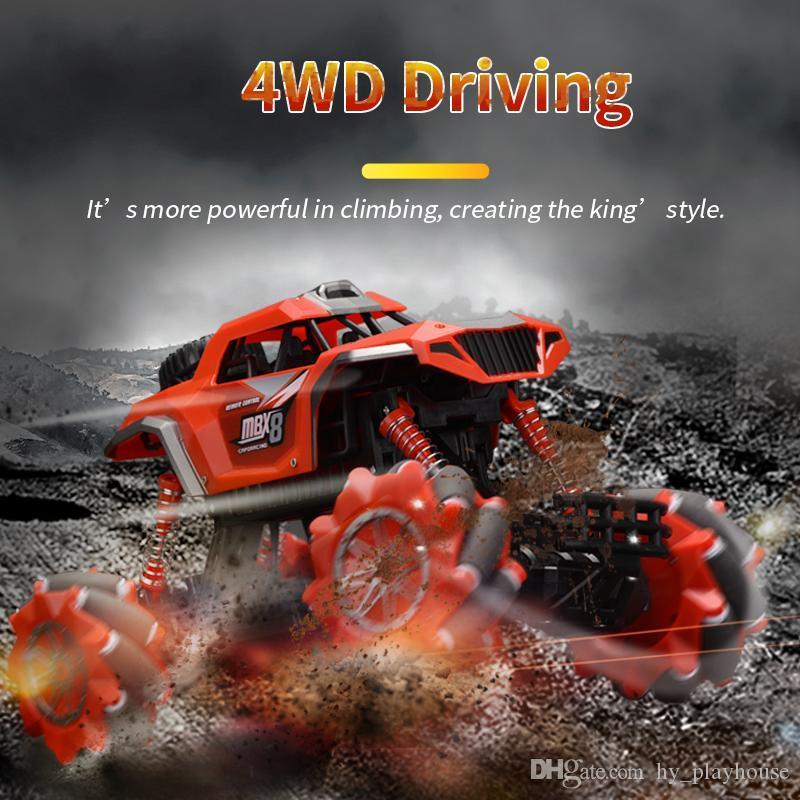 1:16 rc 2.4G coche teledirigido 4WD coche eléctrico de juguete escalada camino vehículo camión de 02 muchachos niños regalos