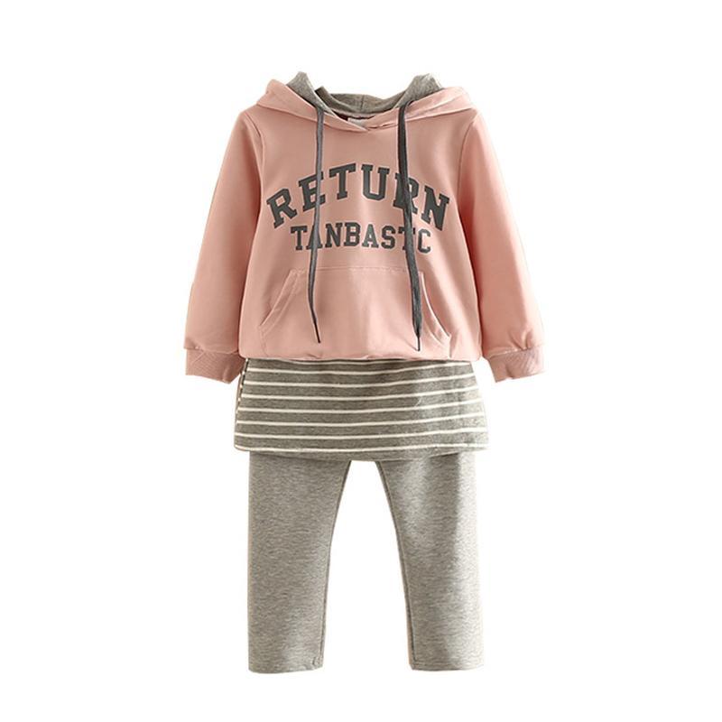 Crianças Roupa Set Meninas Roupas Hoodies + calças 2pcs set Crianças Treino Primavera Esporte Outono Suit