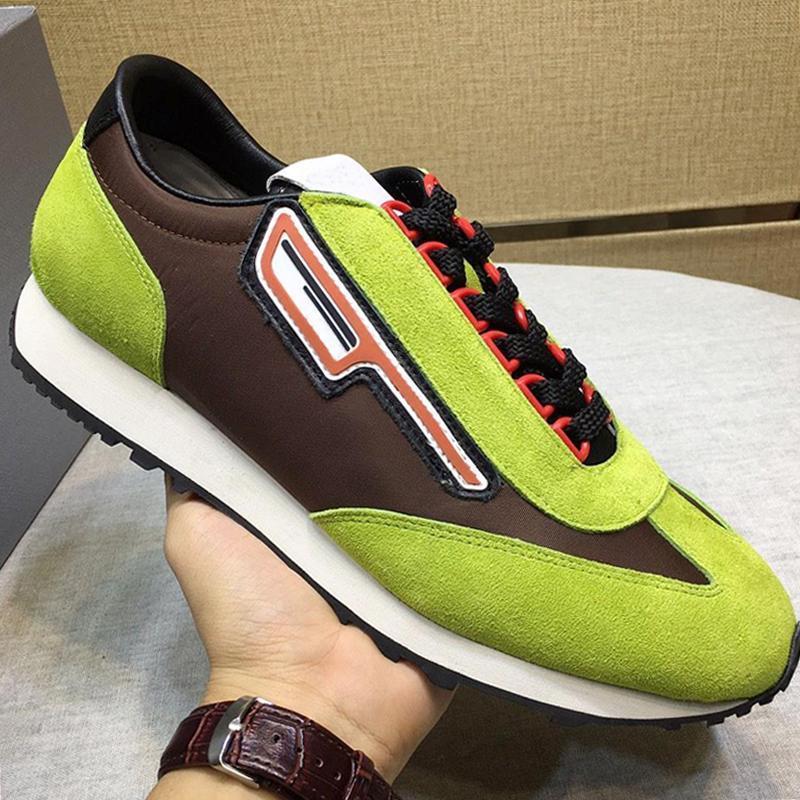 """Top Quality camurça e nylon Sneakers Homens """"; S Sapatos Chegada Nova respirável Chunky Sneakers Sports Design Laço -Up Shoes Herren Esporte"""