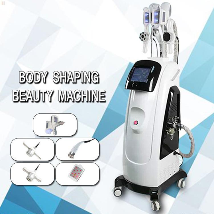 Einfrieren New Fat Gewicht reduzieren Maschine mit Doppel kühlen Teck Cryo Lipolyse + Lipo Laser + Cavitation + RF Gewicht Abnehmen Für Spa reduzieren