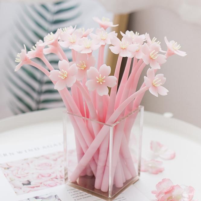 « Sakura ver2 » 4pcs mignon Pen Gel Set Dessin Stylos 0.5mm d'encre noire Papeterie Bureau cadeau Fournitures