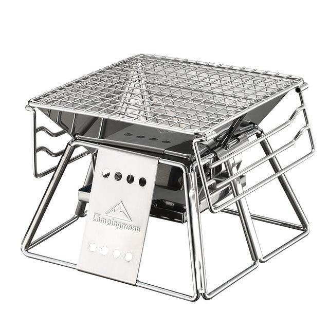 휴대용 스테인리스 BBQ 그릴 비 - 스틱 표면 쉬운 폴딩 바베큐 그릴 야외 캠핑 피크닉 바베큐 도구