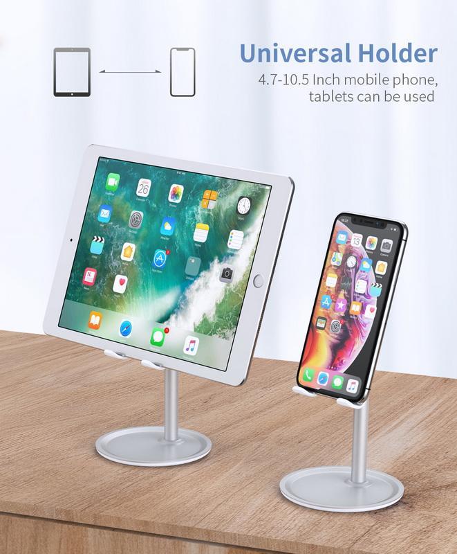 Universal de la tableta soporte para teléfono de escritorio para el soporte de sobremesa iPhone de la tableta para el teléfono móvil la tabla del sostenedor del teléfono celular del soporte de montaje