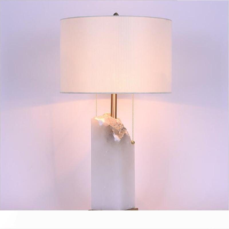 Americana marmo naturale modello di camera Villa lampada da tavolo lampada da tavolo del club camera d'albergo Comodino moderno personalità semplice illumina LR016