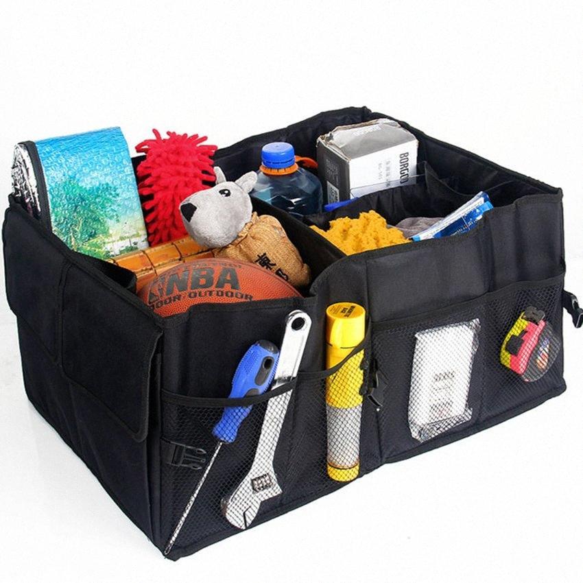 Auto Car Trunk Auto armazenamento saco impermeável dobrável portátil preto Caixa de armazenamento multi Usar Ferramentas Organizador Car Acessórios 5fWz #