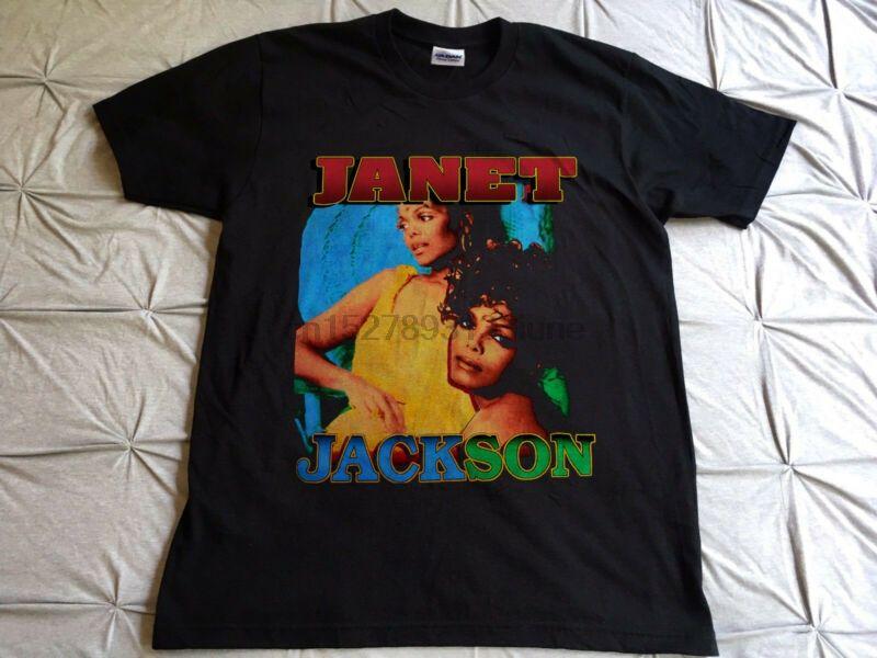 Vintage 90S 1995 1996 Janet Jackson Runaway Rare Print Konzert-T-Shirt REPRINT