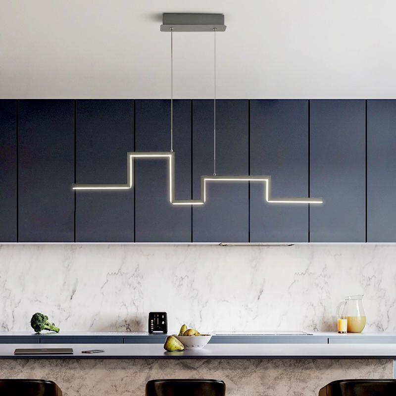 Современные светодиодные подвесные светильники для гостиной Спальни офиса Столовой Домашнего висячих светильников подвеска лампа Черного каркас