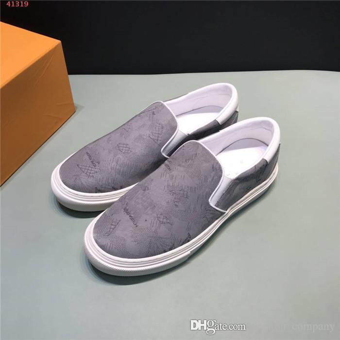 Erkek rahat baskılı ayakkabı, beyaz lastik hafif aşınmaya - dirençli, düz ayakkabılar, ayakkabı tahrik mokasen