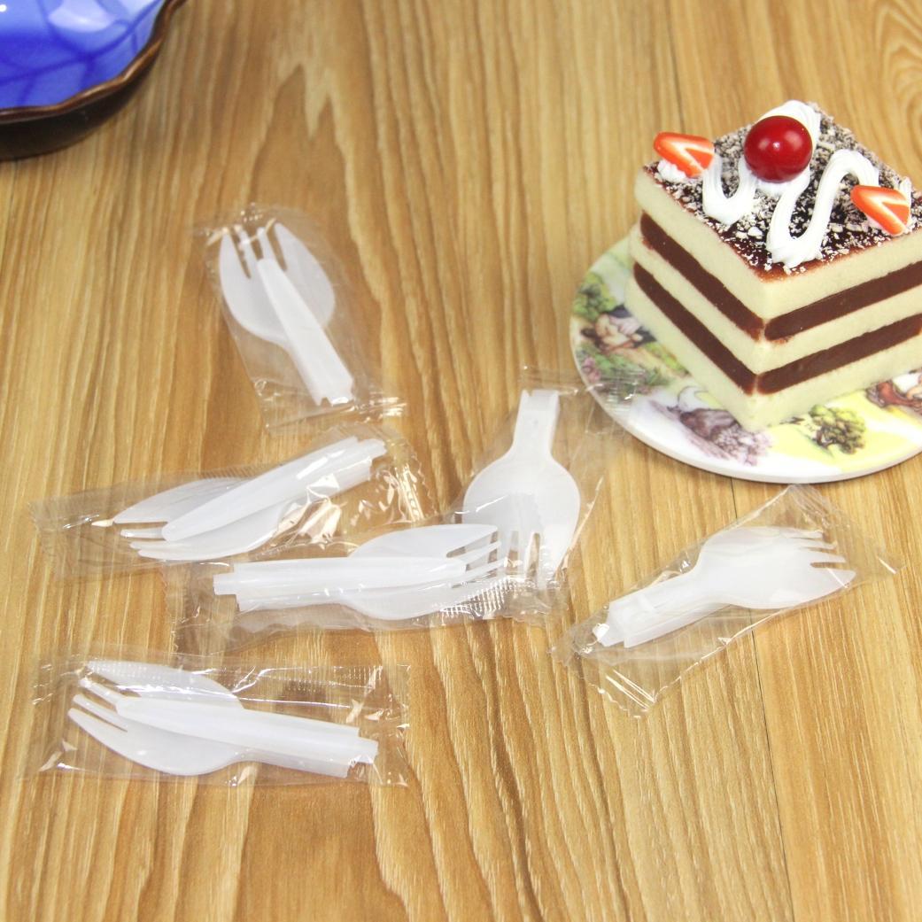 jetable pliable Fork plastique cuillère cuillère mesure crème glacée Fourchette de LZ1847