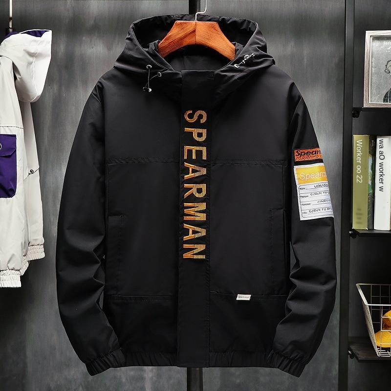 bozD9 revestimento do revestimento do Hoodie jacket2019 outono dos homens e inverno jaqueta casual nova moda hoodie do revestimento dos homens da marca