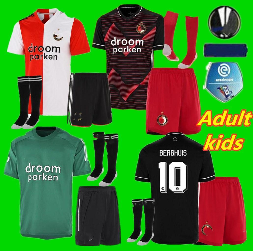 20 21 Yetişkin çocuklar Feyenoord ev futbol formaları Tam 2020 2021 çocuk v.Persie JORGENSEN Berghuis Vilhena futbol takımı forması set