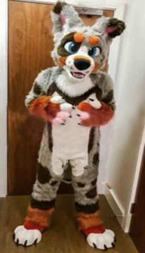 Husky Dog Maskottchen Kostüm Rollenspiel Cartoon Wolf Kostüm Walking Erwachsene Anzug
