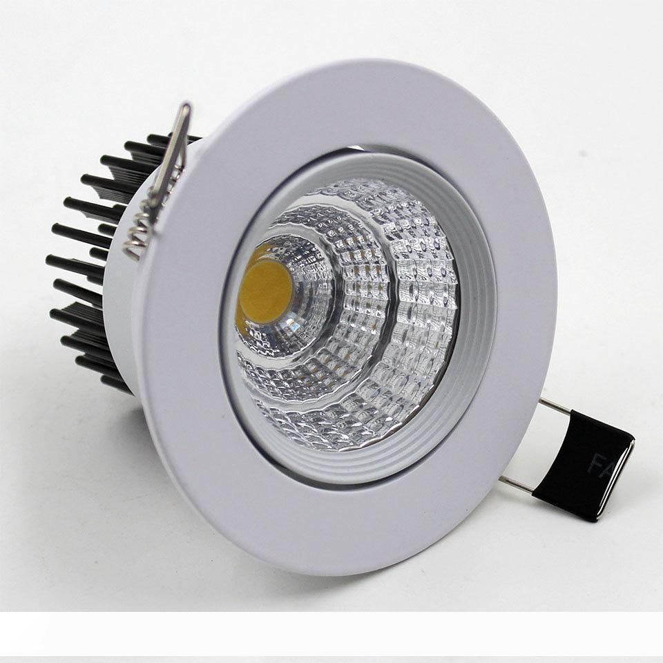COB LED Downlights 9W 12W 15W 18W 21W dimmerabile non dimmerabili Illuminazione fredda Warm White LED Lampade a soffitto driver AC85-265V Con Potenza