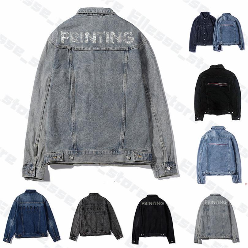 2020 Mens Designer Denim-Jacken Herren-Frauen-Qualitäts Berühmte beiläufige Wintermäntel Markenmode Luxe Mans Jacke Stylist Outwear 20ss