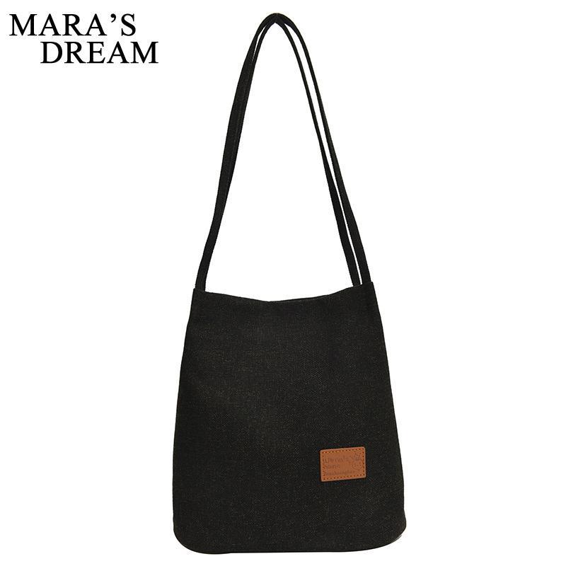 Sueño 2020 Nuevo color sólido bolsa de mano retro damas de Mara cesta con Corea del hombro de la manera ocasional del lino del bolso de mano individual