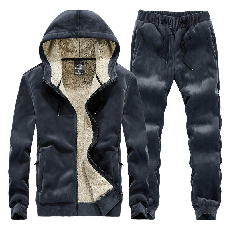 Männer Sets Winter-Vlies-Männer Tracksuits Thick Hoodys Sportswear Set Male Fest Hoodie sweatsuits 4XL Hoodies + Pants