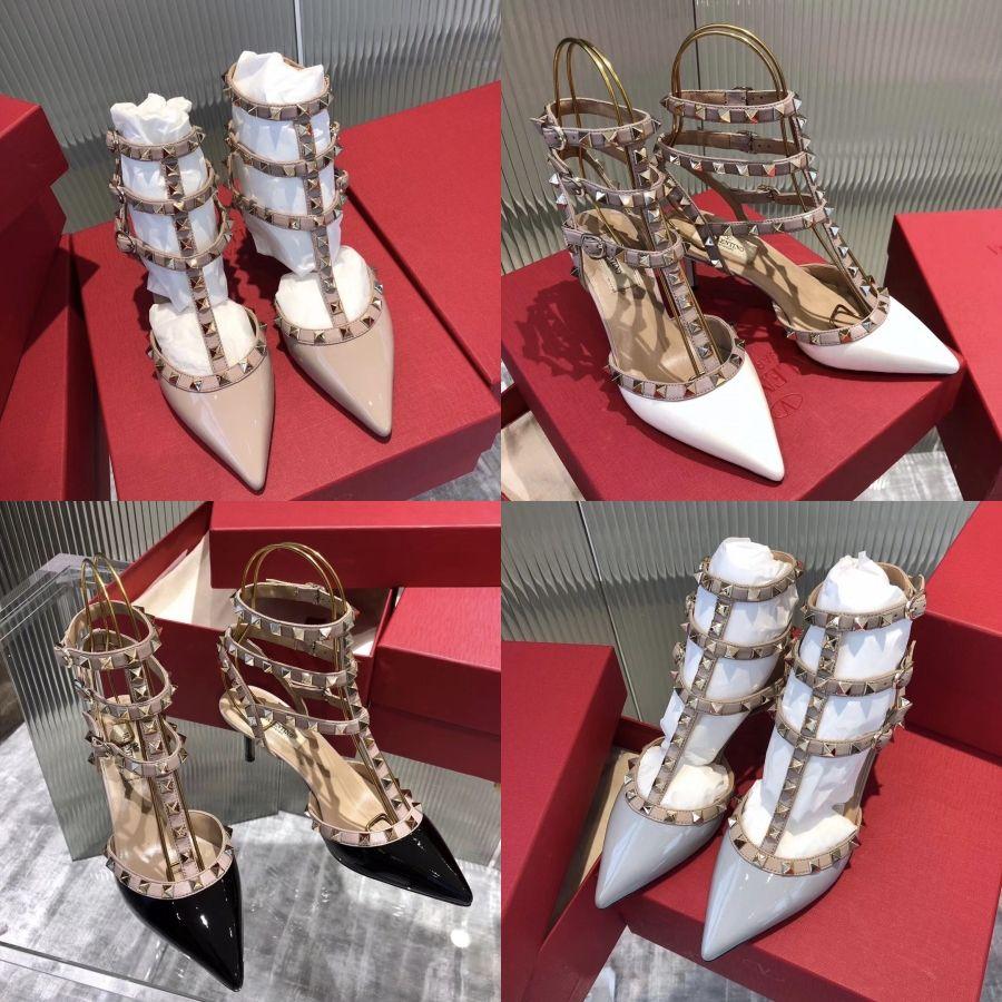 Kadınlar Yaz Plaj Sandalet Flats Ayakkabı Yüksek Kaliteli PU Artı boyutu Tek Kayış Açık Burun Şeker Sandalias Mujer Sapato Feminino C01 # 814