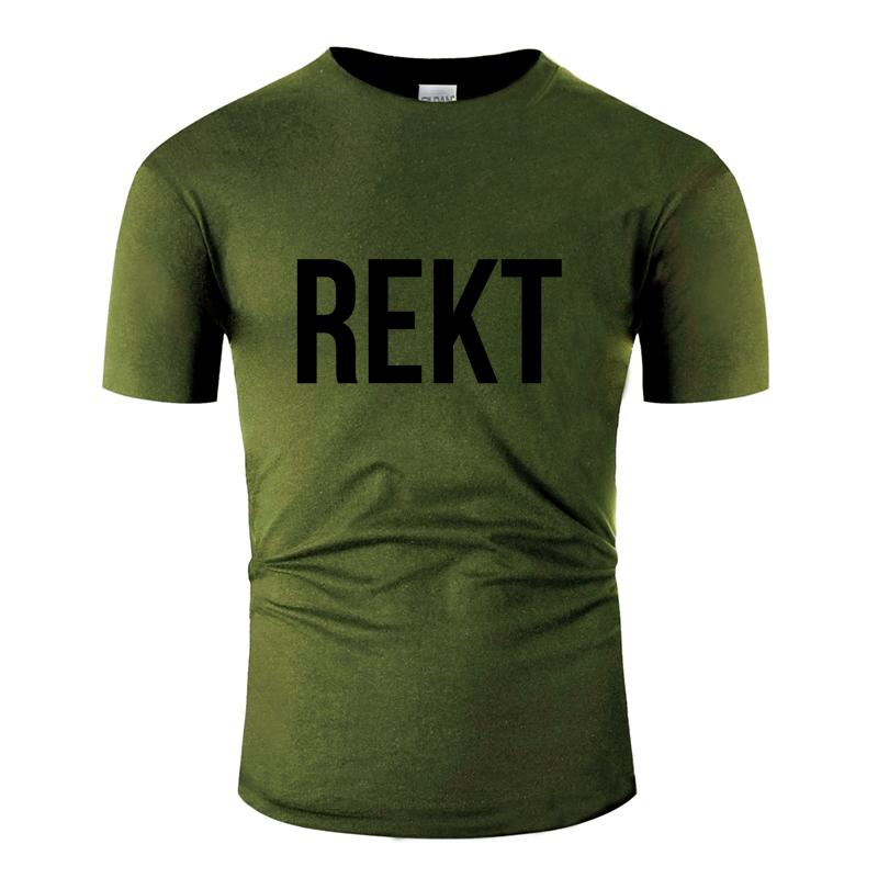 Impression Casual Rekt T-shirt Motif hommes T-shirt Anti-rides Plus Size 3XL 4XL 5XL Hiphop Top Cotton