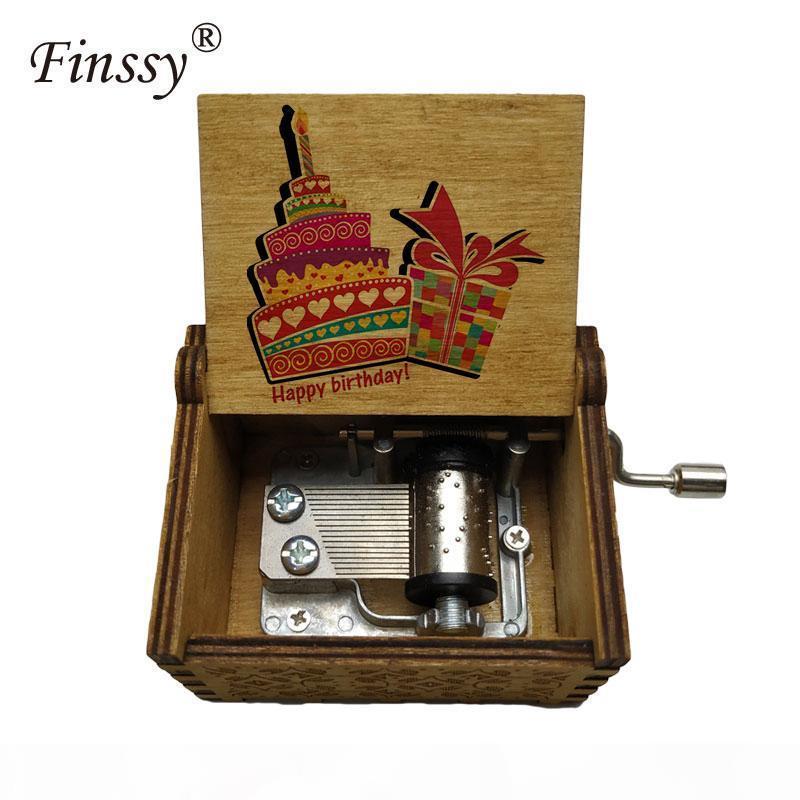 цветная печать текст на заказ Деревянного день рождения Music Box подарок на день рождения дочери сыновья студенты Подарки для влюбленных