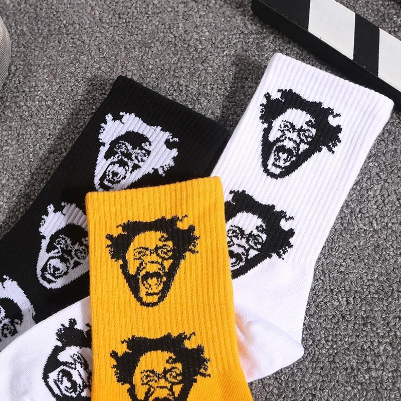 2019 sonbahar ve kış moda yeni moda uzun tüp kişiselleştirilmiş hip hop spor kaykay çift Sokak Çift çorap çorap stockin Tn4aT
