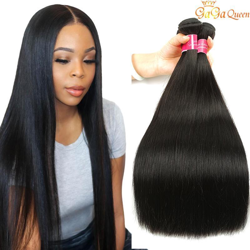 Capelli 8A brasiliano non trattato dei capelli 4 Bundles umani del tessuto all'ingrosso brasiliana diritta di estensioni dei capelli di trasporto