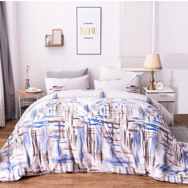 Simples conjuntos de cama edredon cobrir Set abstrato geométrico jogos de cama fronha Único Double Queen Rei da capa do edredon nenhum enchimento