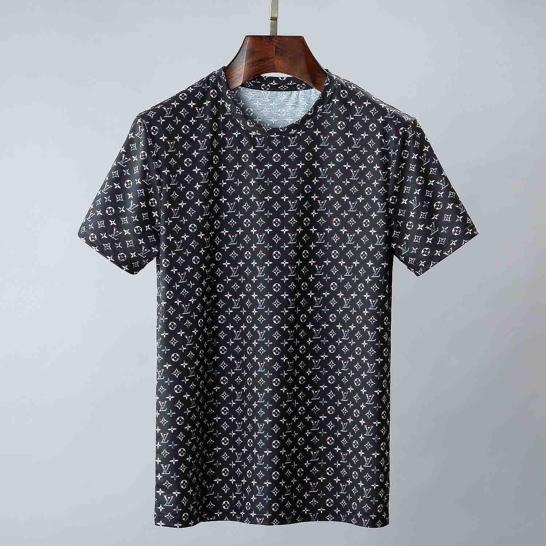 20 el verano del diseñador camisetas para los hombres tops de lujo Carta bordado camiseta para hombre Ropa de manga corta camiseta de los hombres camisetas 629M3XL