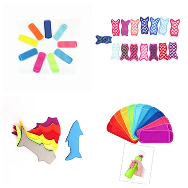 Hot 7 style mermaid shark Popsicle anti-freeze bag colorful ice cream insulated bag diving materials Ice Cream Tools T2I5016