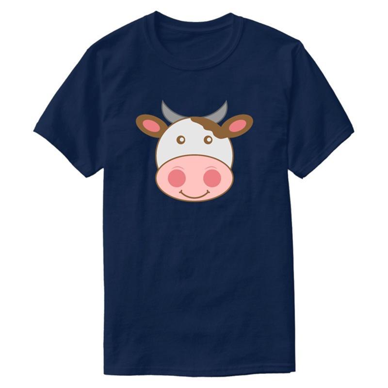 T-shirt Cow Personalizar clássico Outfit em torno do pescoço da novidade Homens e mulheres T-shirts 2019 Big Size 3xl 4xl 5XL Camiseta Hiphop Top