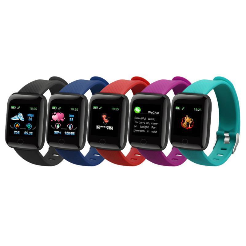 116Plus Smart Armbands Uhr Armband Männer Blutdruck Fitness Tracker Herzfrequenz Monitor Pedometer Erinnerung Smartwatch für Android ios