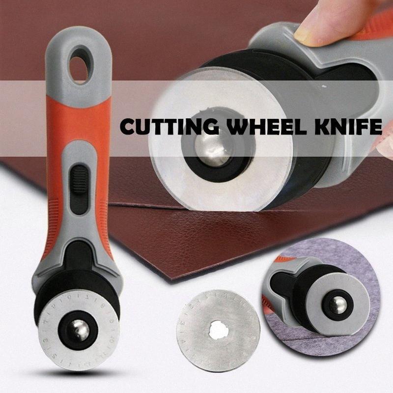 45 milímetros portátil Rotary Cutter Spare Blades Fit Olfa Dafa Fiskars cortador Tecido Paper Circular Corte Patchwork Craft Leather ykMQ #