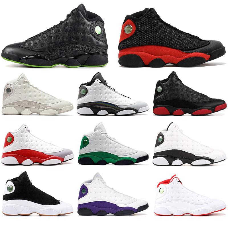 13 2020 Chaussures Top 13s Qualité de basket-ball Atmosphere gris OLIVE BRED Hommes Formateurs Runner Athlétisme extérieur Sport Chaussures Taille respirante 40-47