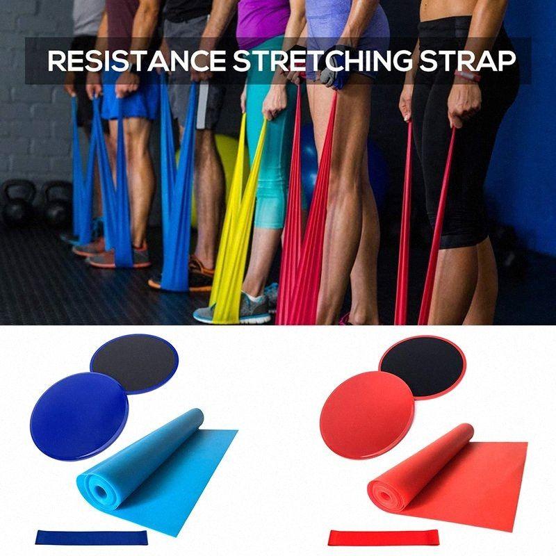 Multifunktionale Fitness Set Core Training Gym Yoga Pilates Kit Resistance Band Discs Kerngleitstücke Übung Strap Yoga Ausrüstung wvVN #