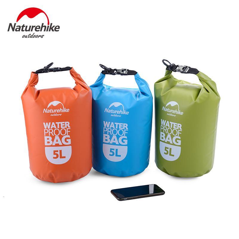 Naturehike 2L 5л Ultralight Открытый Водонепроницаемый Сумки для кемпинга Туризм Сухое дрейфующих Каякинг Плавание дождь Телефон Водонепроницаемые сумки