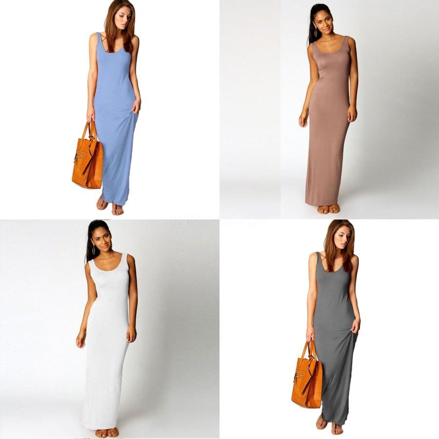 Seksi Parti Elbise Kadınlar Yaz Katı BODYCON Elbise # 324 Boyun Slim Fit Diz Boyu Lady Elbise Slash