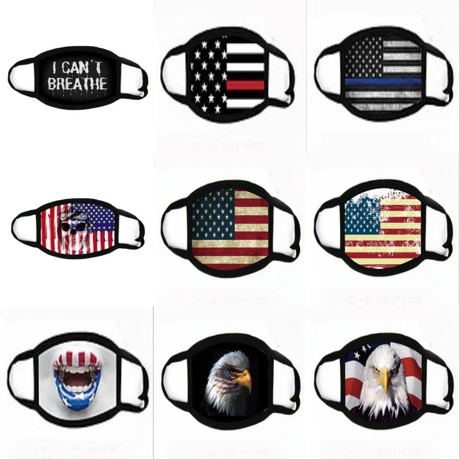 Máscaras reutilizables cara con máscaras de respiración de la válvula a prueba de polvo Máscara lavable del algodón de la bicicleta para los hombres y las mujeres que envían # 376