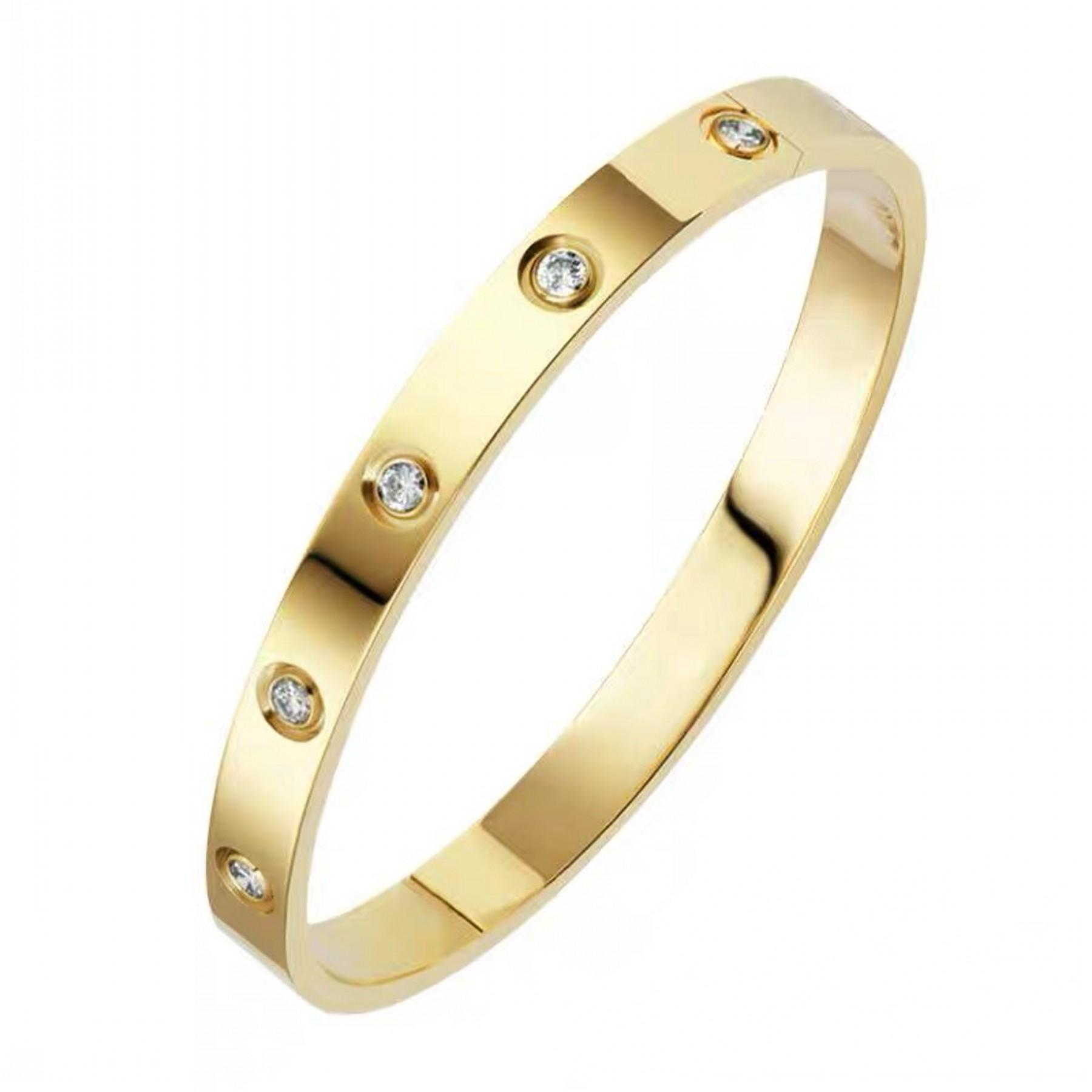 Stainless Steel Bangle Bracelets for Women Bangle Bracelet Set in Heart and CZ Stone Jewelry Fits 6.5-7.5 Inch Wrists
