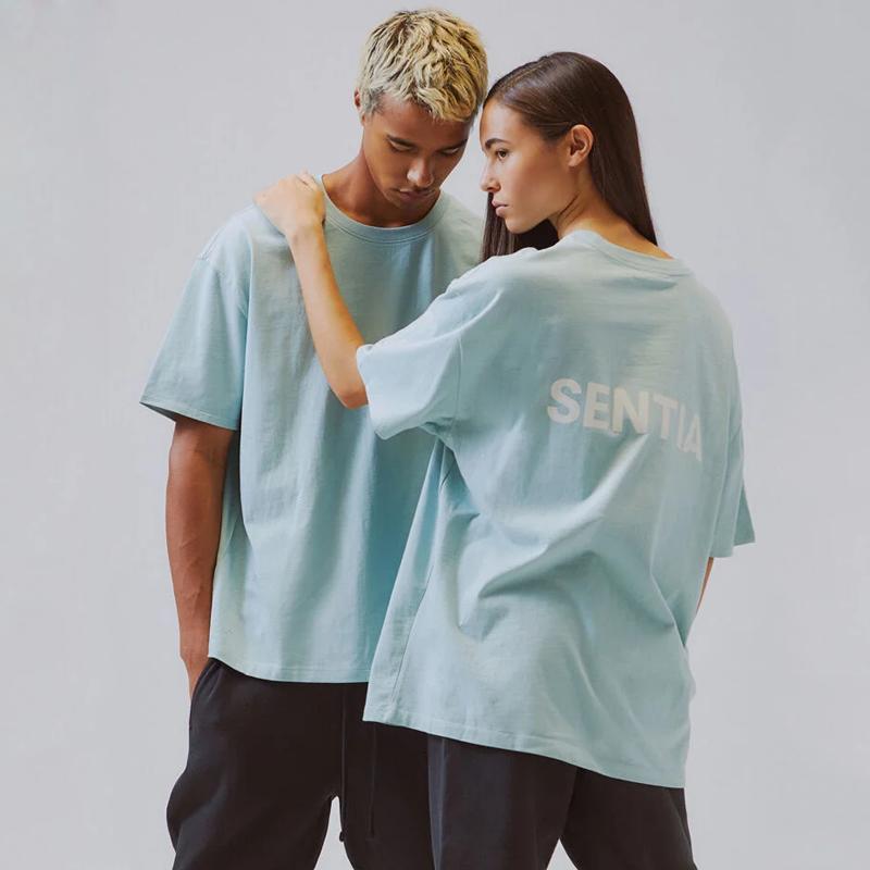 19FW 3M Yansıtıcı Kısa Kollu Klasik Katı Renk Tee Basit Harf Baskılı Günlük Nefes tişört Erkekler Kadınlar Yaz HFYMTX625 Tops