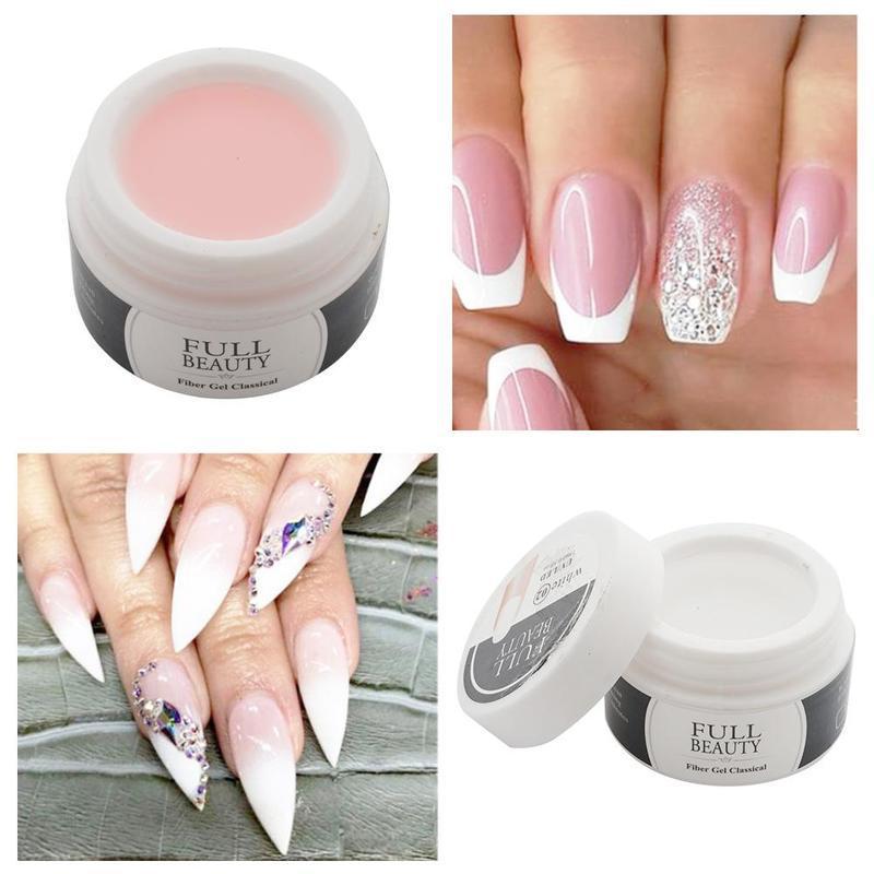 15 мл Гель для ногтей Расширение Прозрачный Розовый Белый Nude Розовый цвет Продлить ногтей Ремонт поврежденных УФ-гель