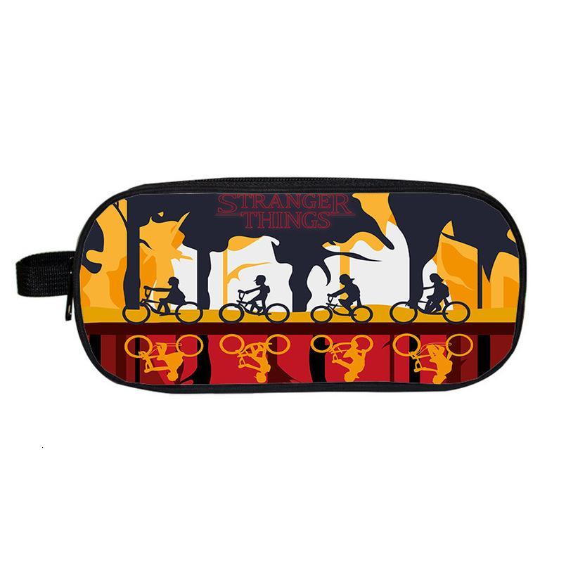 Caja de maquillaje Mochila Extraño Caso Lápiz cosas bolsa de impresión en 3D de doble cremallera Pencil Box Kpop para la escuela embroma fuentes de la Bolsa de Cosméticos