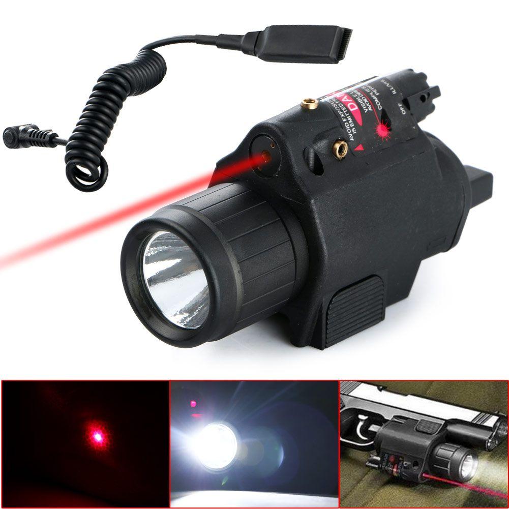 Torcia elettrica Tactical Insight Red Laser Cree LED Gadget 300lm Torch Lantern Pistol Pistol Pistola per la caccia al campeggio Pesca