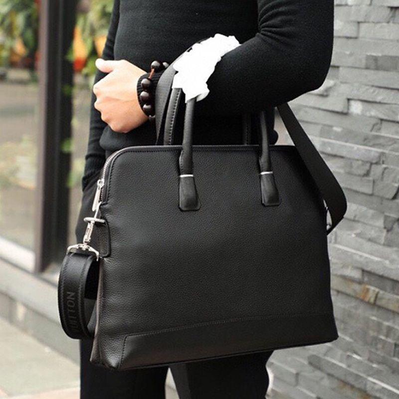 High-End-Männer Schwarzes Geschäft Handtasche Top-Rind Hohe Kapazität Tragetasche Berühmte Schultertasche Mode Umhängetasche Tasche Geschäfts-Laptop-Taschen Typ5
