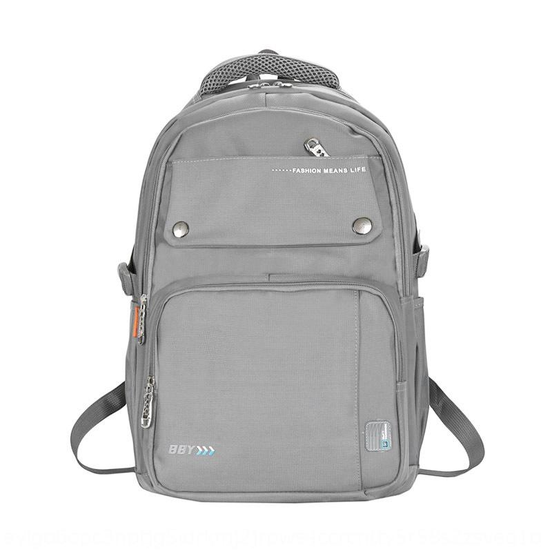 2020 trend new solid color Oxford spinning for men and women couples of the same style schoolbag Bag backpack backpack
