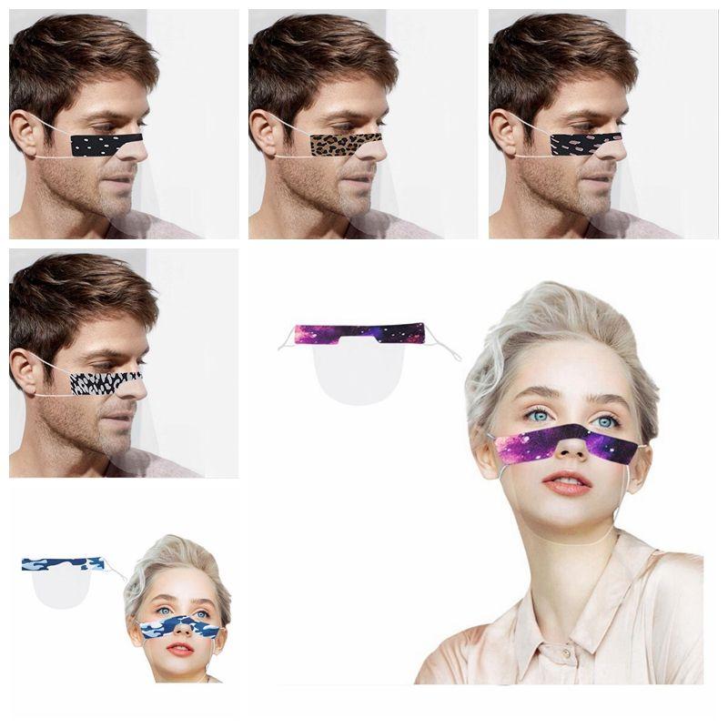 Lèvres Langue Masques Fenêtre transparente visible bouche couverture Deaf Mute Masque Masques Washable Masque de protection extérieure YYA327